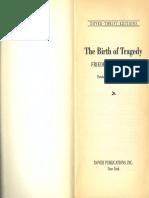 Nietzsche - The Birth of Tragedy Excerpts