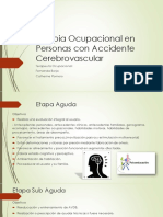Terapia Ocupacional en Personas Con Accidente Cerebrovascular