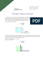 Viscosidad - Número de Reynolds - Ejercicios - 1