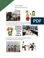 Normas de Comportamiento en La Escuela - 2018