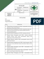 Daftar Tilik Sop 4.2.4 Evaluasi Kegiatan