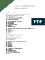 Gramatica Mensual 5 de Secundaria - 2do Trimestre