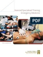 Curriculum Advanced Specialised Training Emergency Medicine
