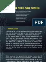 Pruebas de Pozo (Well) Mod