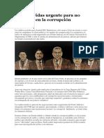 Un Salvavidas Urgente Para No Ahogarse en La Corrupción