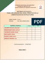 Influencia Del Nivel Freatico en Las Cimentaciones.finaldocx