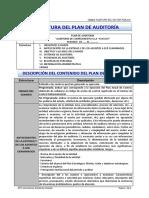 Estructura y Contenido Del Plan de Auditoría