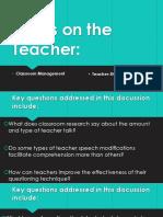 Focus on the Teacher