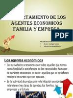 Comportamiento de Los Agentes Economicos Familia y Empresa