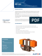 ARC 820 High-Speed Circuit Breaker - Product Sheet - English