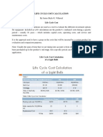 Life Cycle Cost Calculation