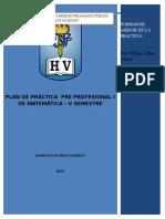 Plan de Practica Pre Profesional i