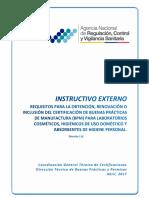 Instructivo Externo BPM Cosméticos PHD y PAHP