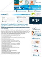 Documento de la Sociedad Española de Nefrología sobre las guías KDIGO para la evaluación y el tratam