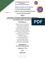 PROYECTO- Prevalencia de preeclampsia asociada a factores de riesgo  en el HRDC