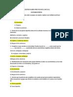 Cuestionario Psicología Social
