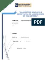 Diagnostico Del Papel e Importancia de Las Personas en La Organizacion