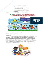 Proyecto de Aprendizaje Semna de La Educacion Inicial2018