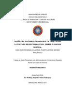 DISEÑO DEL SISTEMA DE TRANSPORTE DE TRIGO DESDE LA TOLVA DE RECEPCIÓN HASTA EL PRIMER ELEVADOR VERTICAL.