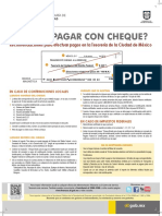 Metodo de Pago en Tesorería Con Cheque