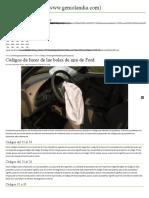 Códigos de Luces de Las Bolsa de Aire de Ford