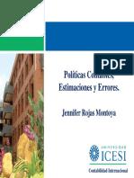 Politicas de estimacion de errores