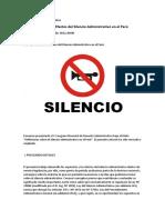 Los Supuestos y los Efectos del Silencio Administrativo en el Perú.docx