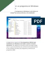 Cómo Mover Un Programa en Windows a Otro Disco