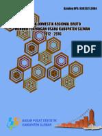 Produk Domestik Regional Bruto Kabupaten Sleman Menurut Lapangan Usaha  2012-2016.pdf