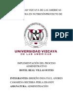 Hotel Real Villas Proyecto Administracion Term