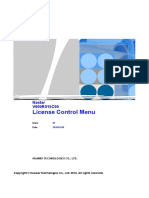 License Control Menu List
