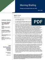 S&P Morning Briefing 11 Jul 2018