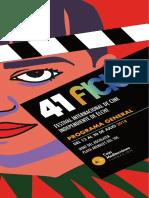 41 Festival Internacional de Cine Independiente de Elche. Programa General de Proyecciones