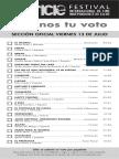 41 Festival Internacional de Cine Independiente de Elche. Programa por días