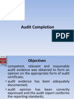 Audit Completion