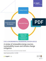 A Review of Renewable Energy Sources Sustainability Issues and Climate Change Mitigation