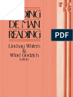 Lindsey Waters, Wlad Godzich (Eds.) - Reading de Man Reading