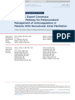 2017 ACC Expert Consensus Decision Pathway for Periprocedural Management of Anticoagulation in Patients With Nonvalvular Atrial Fibrillation