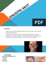 Sinusitis Akut (Penyuluhan)