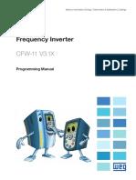 WEG Cfw11 Programming Manual 0899.5620 3.1x Manual English