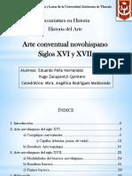 Arte conventual novohispano. Siglos XVI y XVII.pptx
