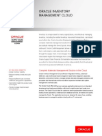 ORACLE INVENTORY MANAGEMENT CLOUD