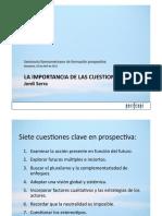 Jordi Serra La Importancia de Las Cuestiones Previas