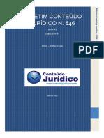 BOLETIM CONTEÚDO JURÍDICO N 846