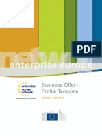 Business Offer Profile Template