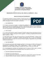 [CORRETO] PIAA Prograd EDITAL Álgebra Linear Ciências Agrárias