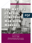 191145281 Estimator s General Construction Man Hour Manual b 2