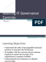 Auditing IT Governance Controls