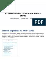 Controle de Potência via PWM - ESP32