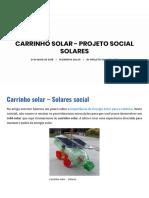 Carrinho Solar - Projeto Social Solares